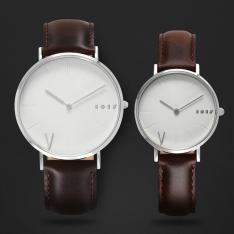 طقم ساعة آن بني داكن ومينا أبيض ML110711