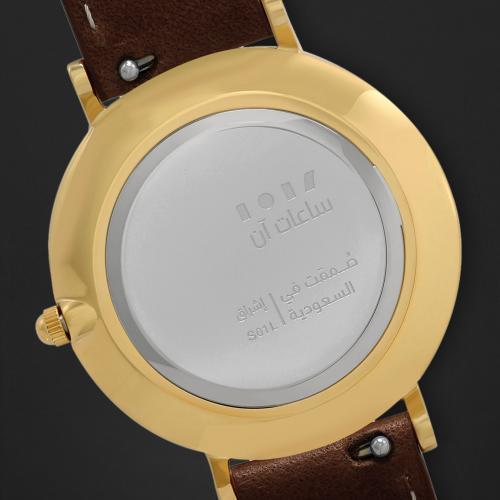 ساعة آن بني داكن ومينا بني S01L010753