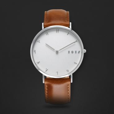 ساعة آن بني ومينا أبيض S01M110711