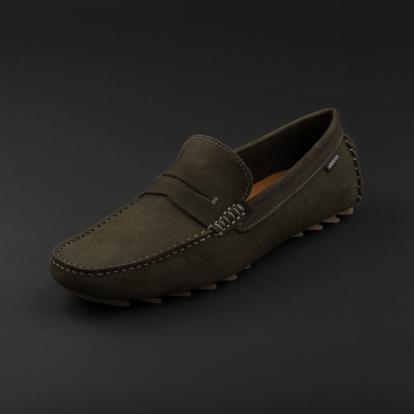 حذاء موكاسين أخضر داكن نوبوك 9823