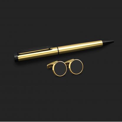 طقم قلم وكبك الدهنج D2134GB