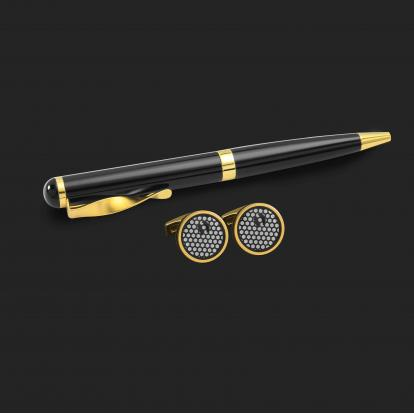 طقم قلم وكبك الدهنج D2167BG
