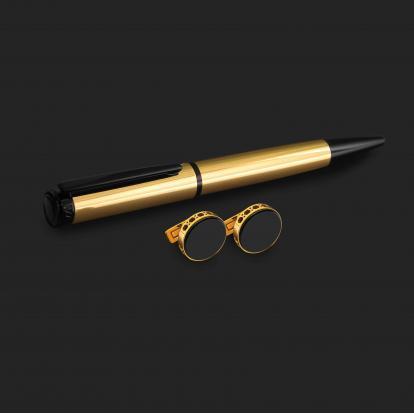 طقم قلم وكبك الدهنج D2191GB
