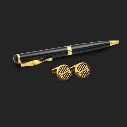 طقم قلم وكبك الدهنج D2196BG