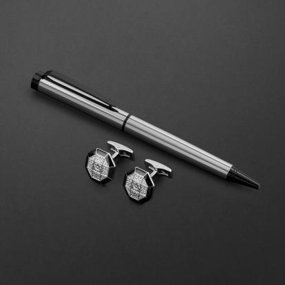 طقم قلم وكبك الدهنج D2114SB