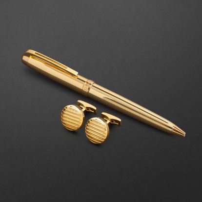 طقم قلم وكبك الدهنج D2117GG