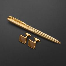 طقم قلم وكبك الدهنج D2118GG