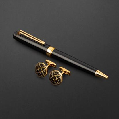 طقم قلم وكبك الدهنج D2122BG