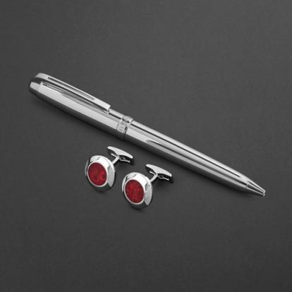 طقم قلم وكبك الدهنج D2164SS
