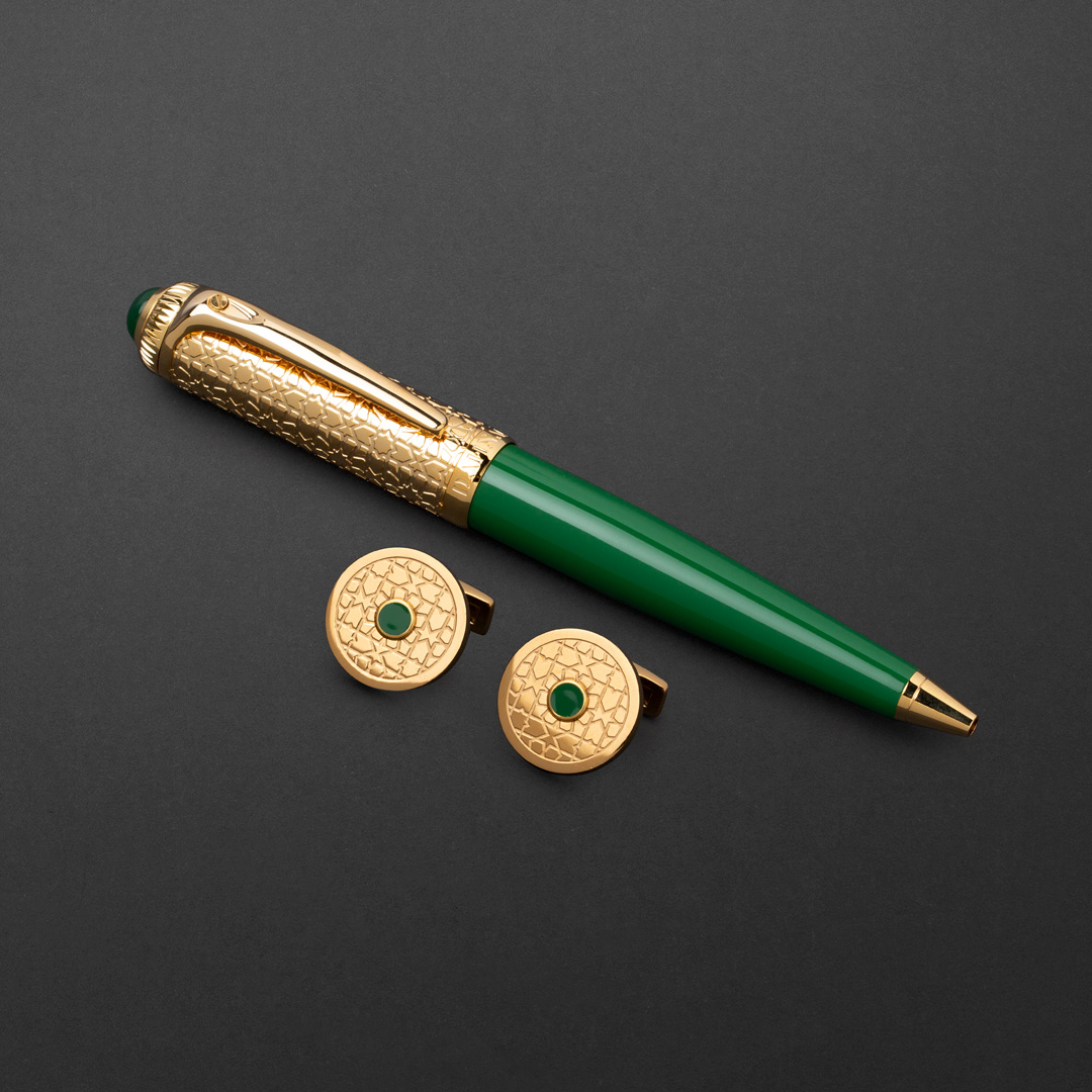 طقم قلم وكبك الدهنج D9121GGR