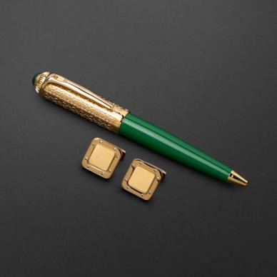 طقم قلم وكبك الدهنج D9123GGR