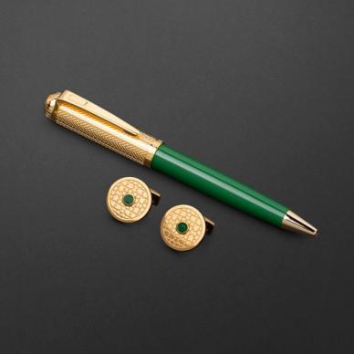طقم قلم وكبك الدهنج D9131GGR