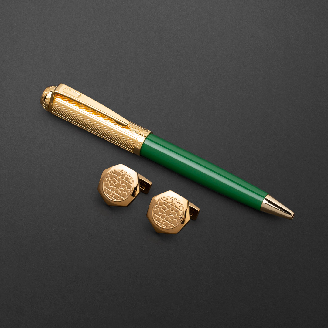 طقم قلم وكبك الدهنج D9132GGR