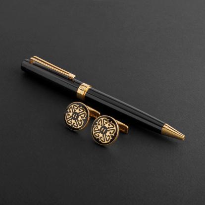 طقم قلم وكبك الدهنج D8005BG