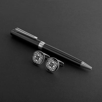 طقم قلم وكبك الدهنج D8005BS