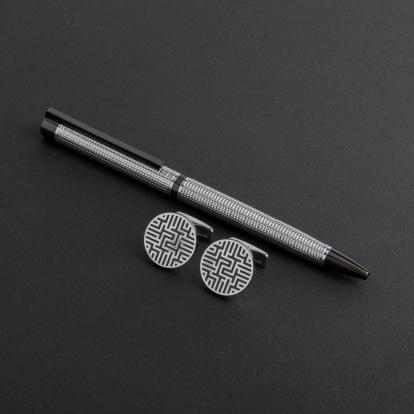 طقم قلم وكبك الدهنج D8007SG
