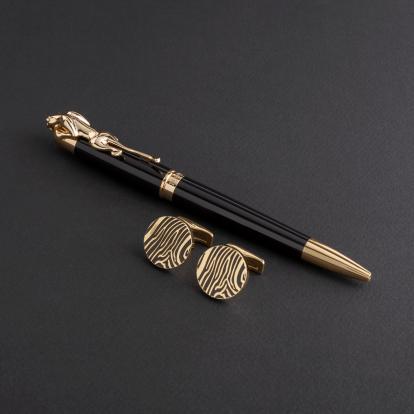 طقم قلم وكبك الدهنج D8022BG