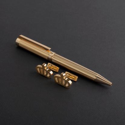 طقم قلم وكبك الدهنج D8028GG
