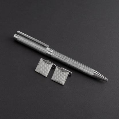 طقم قلم وكبك الدهنج D8038SS