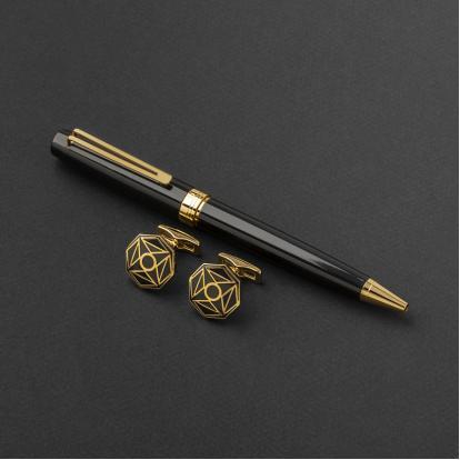 طقم قلم وكبك الدهنج D9047BG