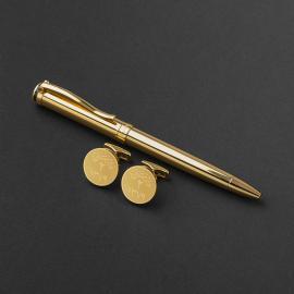 طقم قلم وكبك الدهنج D9082GG