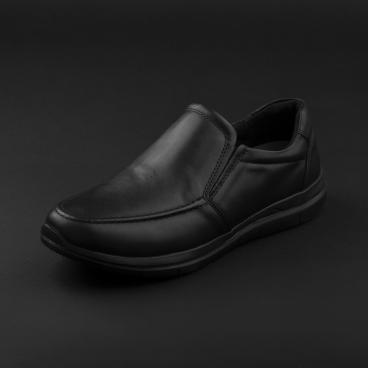 حذاء لوفر جلد أسود 7957