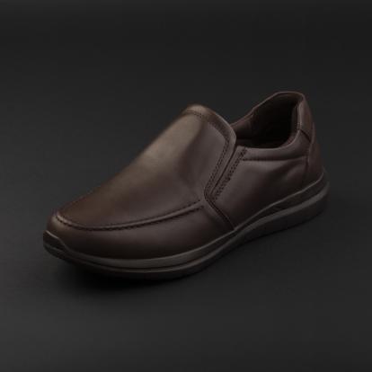 حذاء لوفر جلد بني غامق 7957