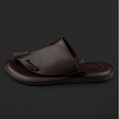 حذاء شرقي مخرم بني محروق GN152