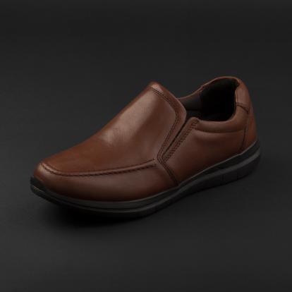 حذاء لوفر جلد بني 7957