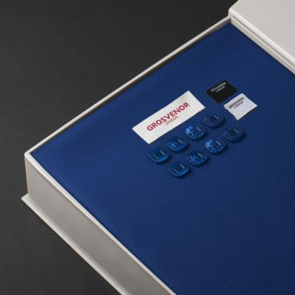 قماش جروفنر شتوي صوف أزرق غامق 25089