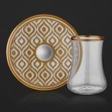طقم بيالات شاي قولد 0258