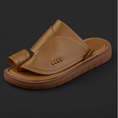 حذاء شرقي كلاسيكي بني جملي 2212