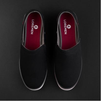 حذاء لورمان أسود سهل الارتداء 2342