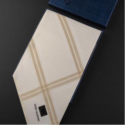 شماغ ماريو فالنتينو أبيض بيج SV0B3