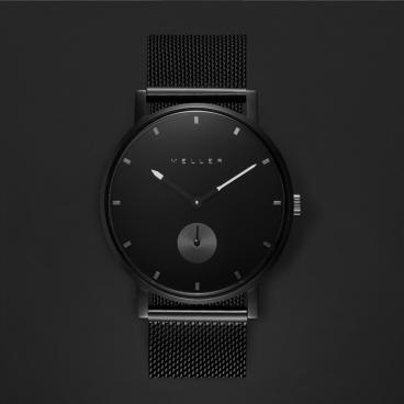ساعة ميلر أسود ومينا أسود 2N-2BLACK