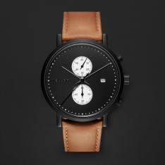 ساعة ميلر بني ومينا أسود 4NW-1CAMEL