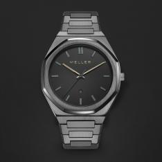 ساعة ميلر رمادي ومينا أسود 8GG-3.2GREY