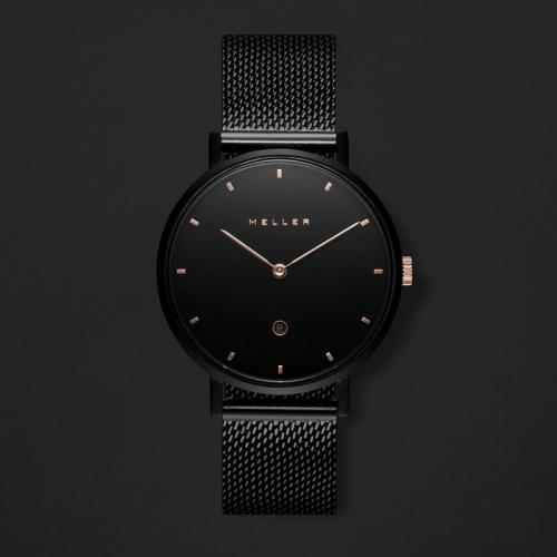 ساعة ميلر أسود ومينا أسود W1NR-2BLACK