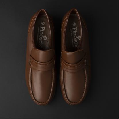 حذاء لوفر جلد بني 7857