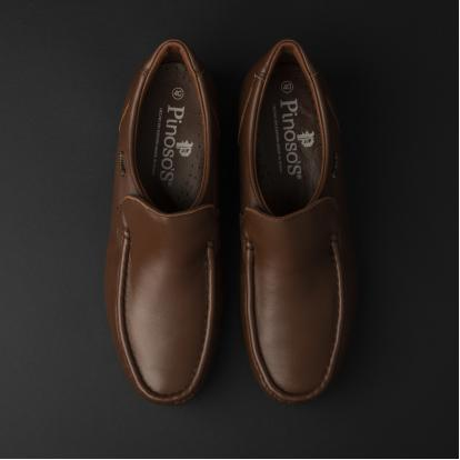 حذاء لوفر جلد بني 7869