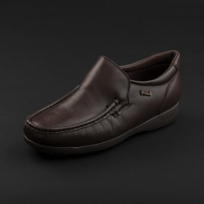 حذاء لوفر جلد بني داكن 7869