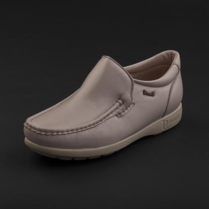 حذاء لوفر جلد رمادي فاتح 7869