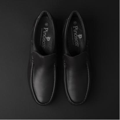حذاء لوفر جلد أسود 7869