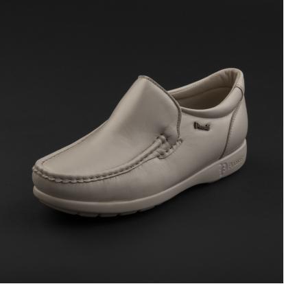 حذاء لوفر جلد بيج 7869