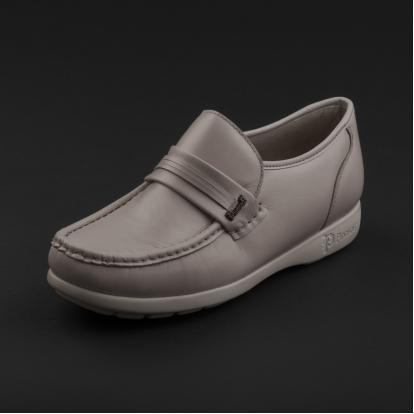 حذاء لوفر جلد رمادي فاتح 7857