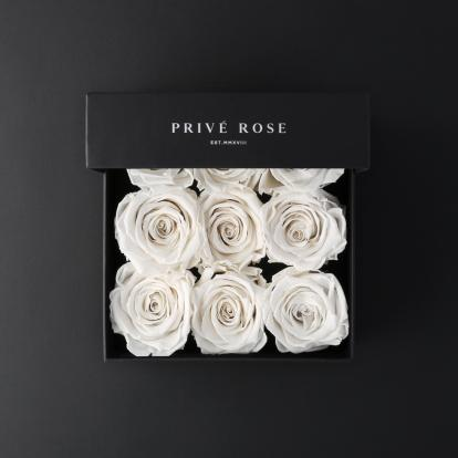 بوكيه بريفي روز أبيض PRW21