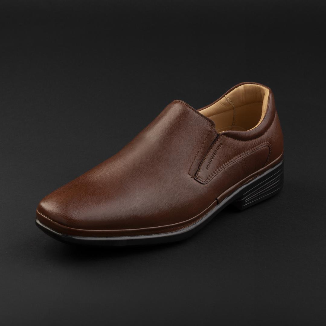 حذاء ساباتوتيرابيا رسمي جلد بني 44406