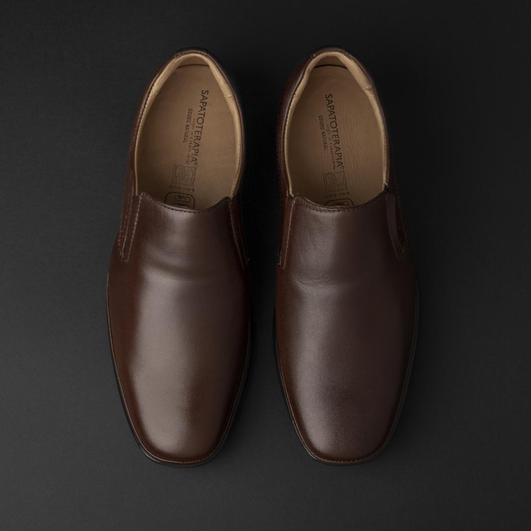حذاء ساباتوتيرابيا رسمي جلد بني داكن 44406