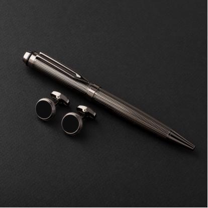 طقم جنيفا ايليت مع قلم وكبك G507