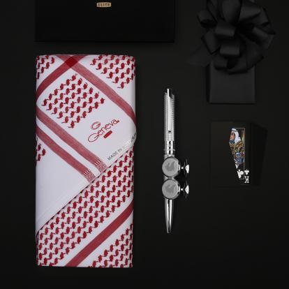 طقم جنيفا ايليت مع قلم وكبك نيتو ماراني S120SS (حصري )
